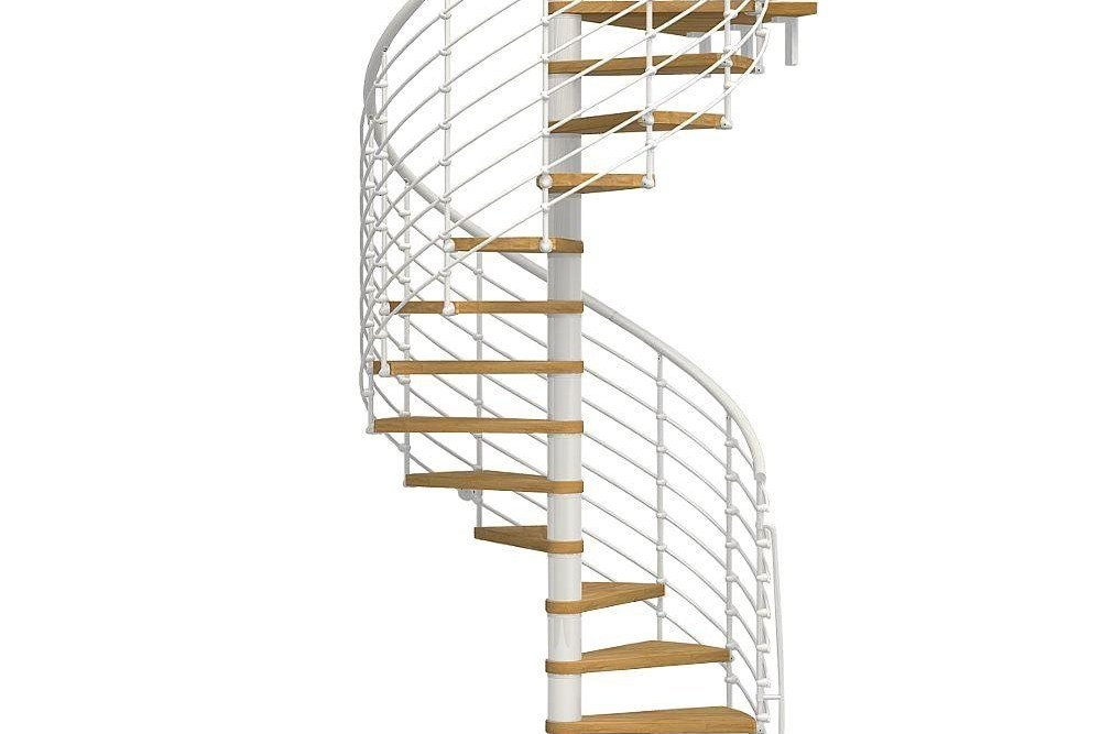 Arke Oak70 Xtra 63 In White Spiral Staircase Kit K26126 The | Outdoor Spiral Staircase Home Depot | Reroute Galvanized | Handrail | Arke Nice1 | Arke Enduro | Galvanized Exterior