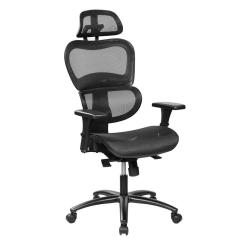 Office Chair Support Bedroom Comfy Techni Mobili Black Mesh High Back Executive With Neck
