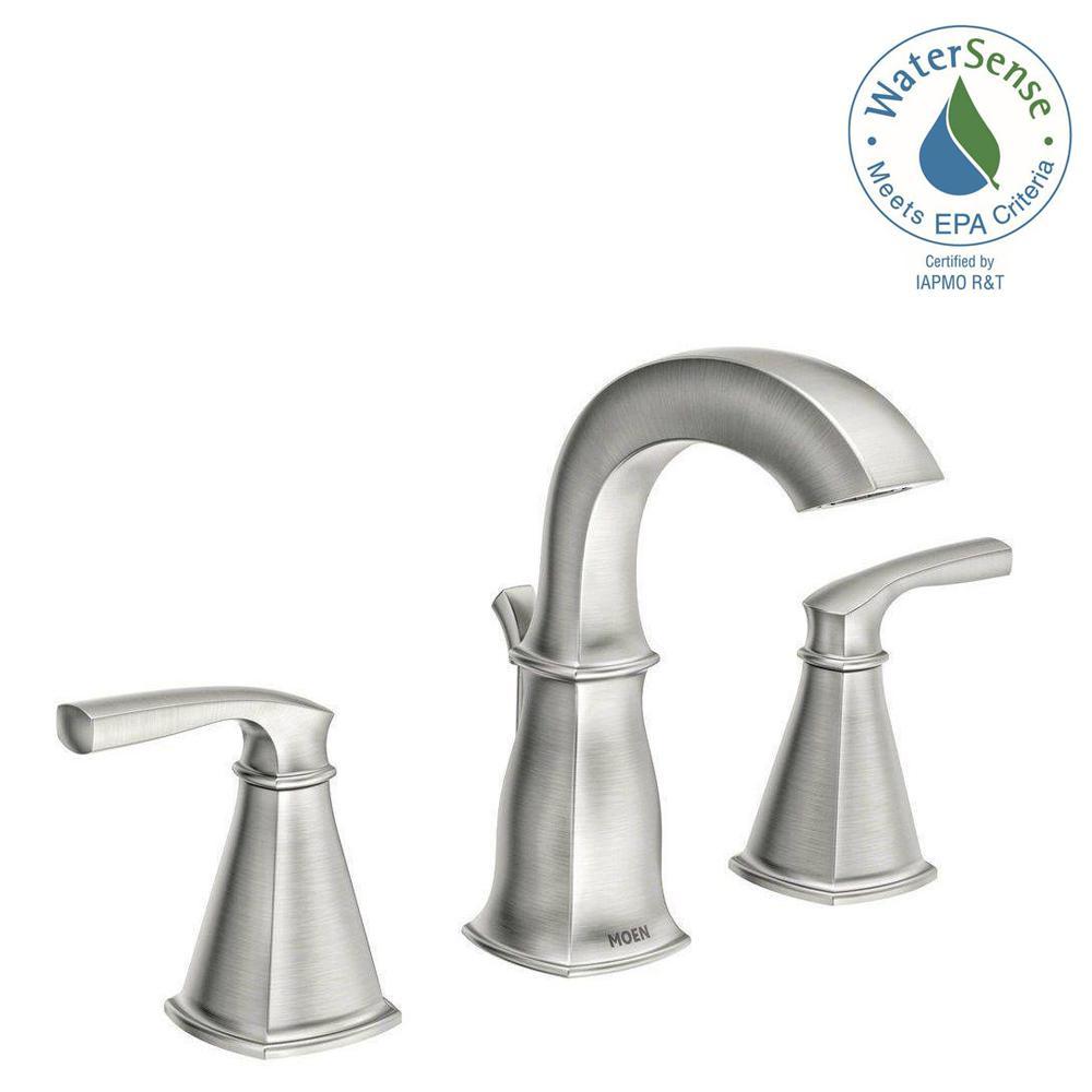 MOEN Hensley 8 in Widespread 2Handle Bathroom Faucet in