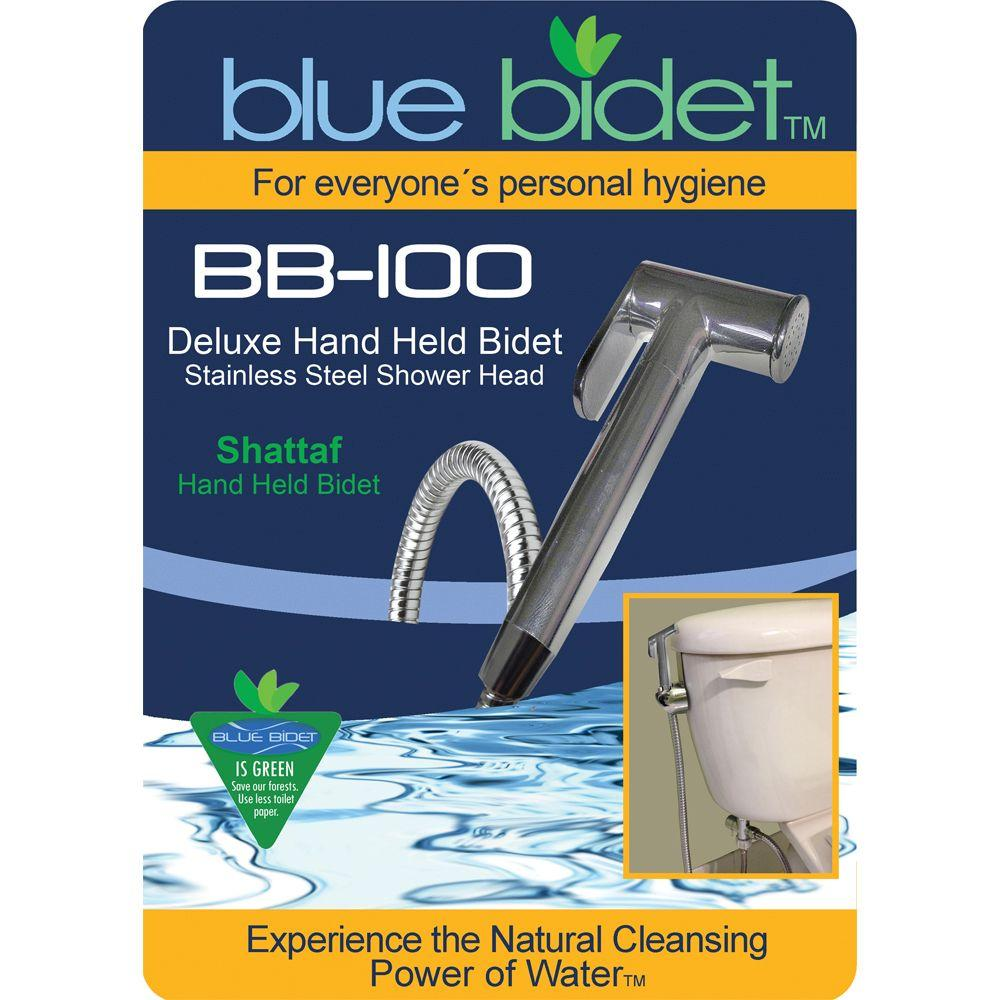 Blue Bidet 58 In Hose Deluxe Hand Held Bidet In Silver Bb 100 The Home Depot