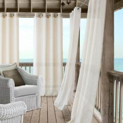 Window Curtains Living Room Pictures Of Formal Rooms Decorated Elrene Bali Sheer Indoor Outdoor Curtain With Tieback