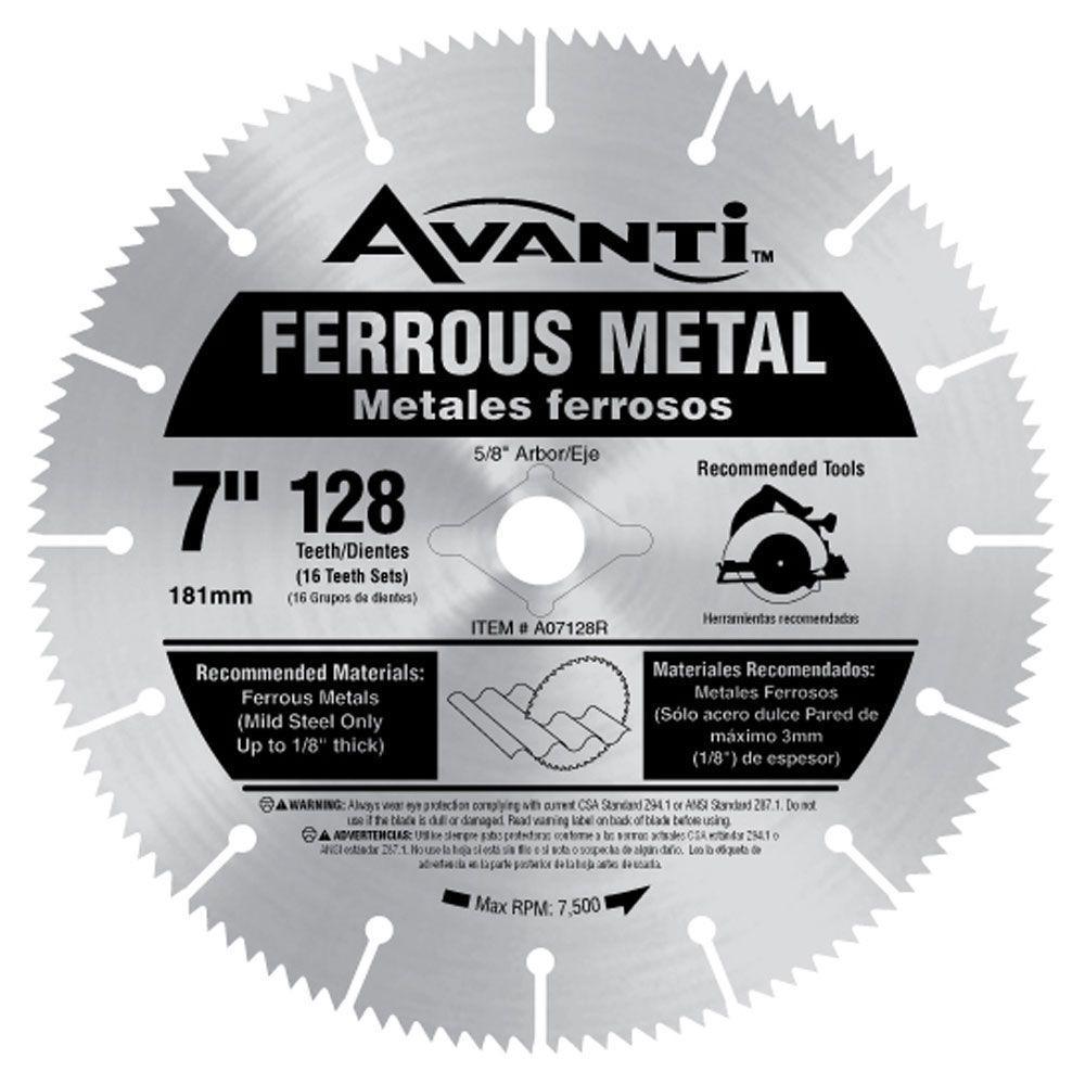 Avanti 7 in x 128Teeth Ferrous Metal Cutting Saw Blade
