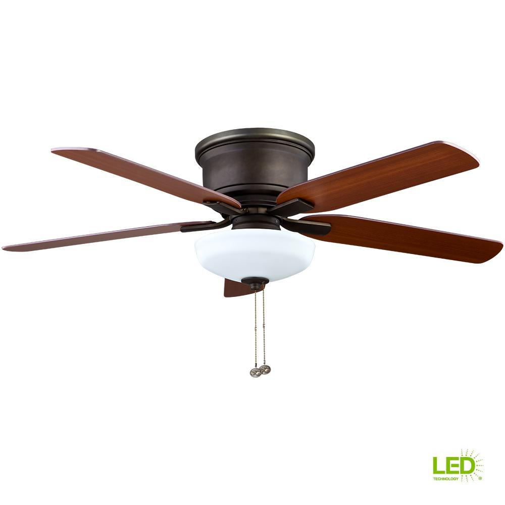 hight resolution of hampton bay holly springs low profile 52 in led indoor oil rubbed bronze ceiling fan with light kit