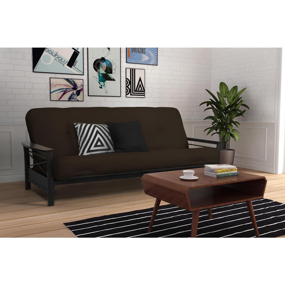 cheap living room ideas grey and green dhp nadine black espresso futon frame 2101959 the home depot