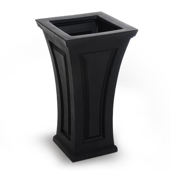 Black Tall Planter Home Depot