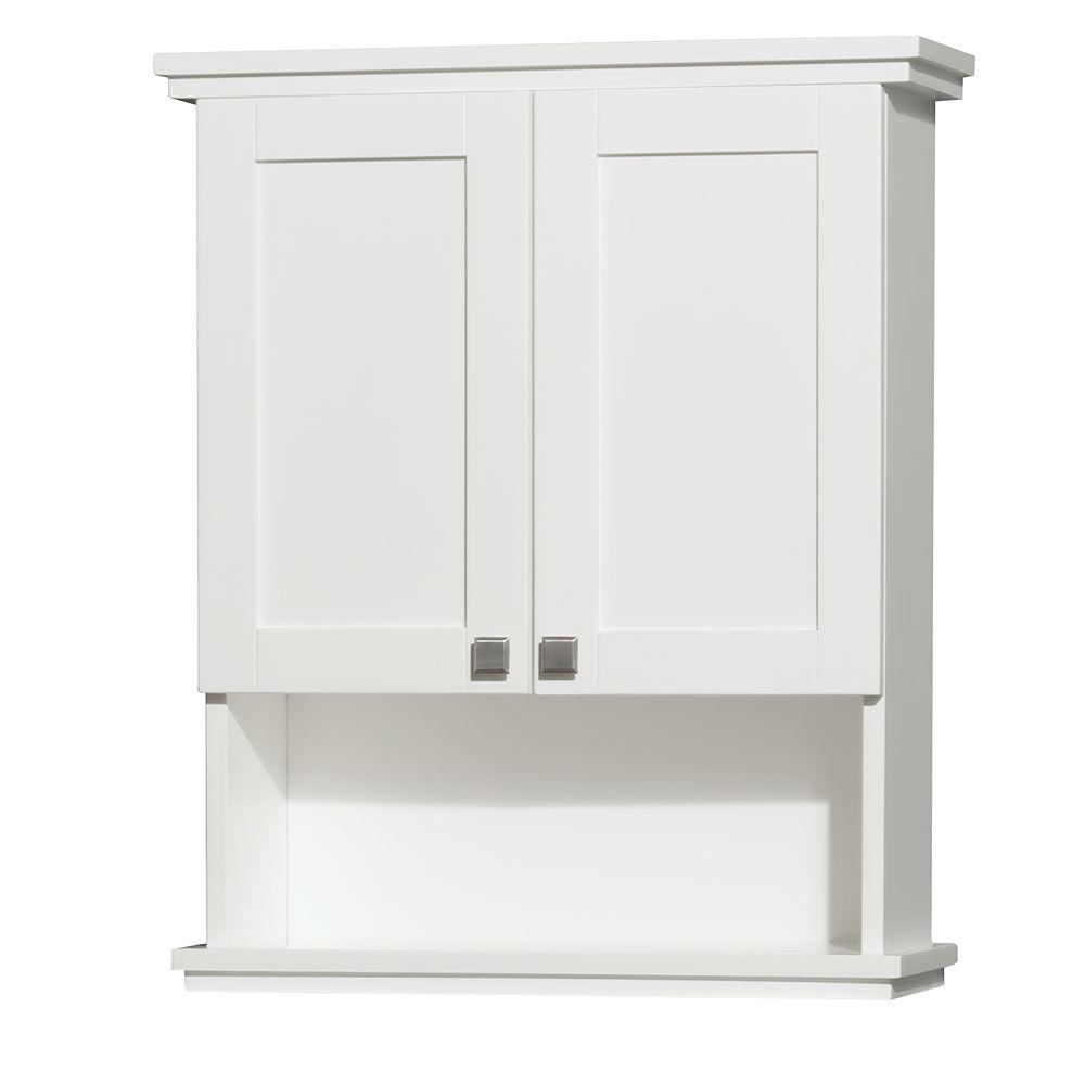 Wall Cabinets For Bathrooms Wyndham Collection Acclaim 25 In W X 30 In H X 9 1 8 In D Bathroom Storage Wall Cabinet In White
