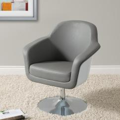 Modern Leather Accent Chairs Antique Dining For Sale Corliving Mod Grey And White Bonded Chair Dln