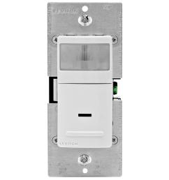 leviton 15 amp 120 volt single pole and 3 way occupancy sensor [ 1000 x 1000 Pixel ]