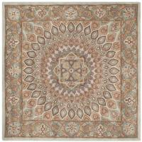 Safavieh Heritage Blue/Gray 8 ft. x 8 ft. Square Area Rug ...