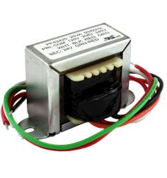 20va 120 20 240 volt 24 volt secondary 2 ft mount transformer [ 1000 x 1000 Pixel ]