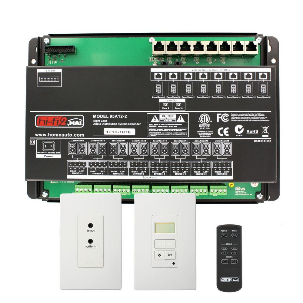 hight resolution of leviton hi fi 2 8 zone 8 source kit for structured wiring enclosures