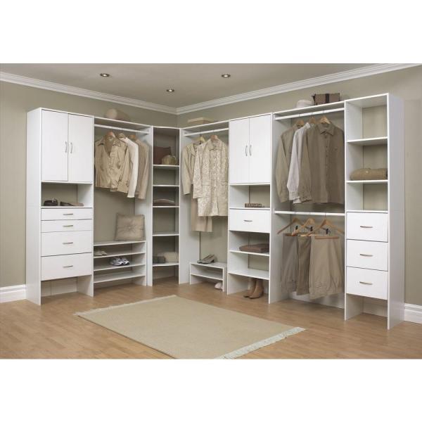 Closetmaid Selectives 16 In. White Custom Closet Organizer-7032 - Home Depot