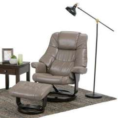 Accent Chair Recliner Wheelchair For Patients Reclining Wingback Chairs The Home Depot Ledi Taupe Air Leather Set Of 1