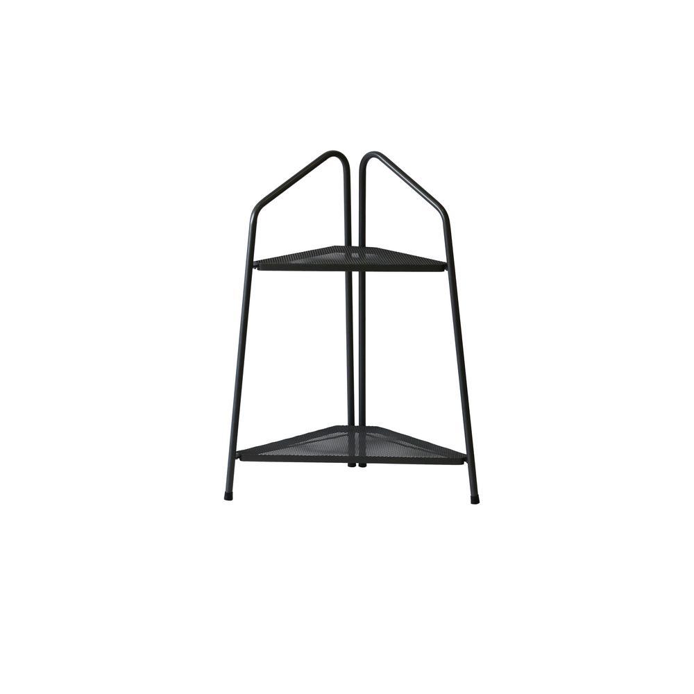 VegTrug 2-Shelf Metal Modern Corner Plant Stand-PSM-C02USA