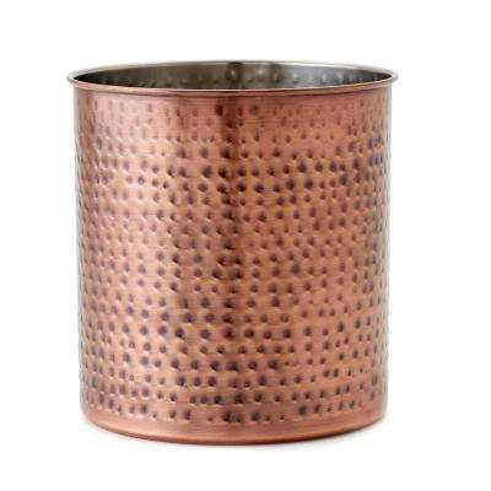 copper kitchen utensil holder trash can cabinet antique holders utensils the home depot