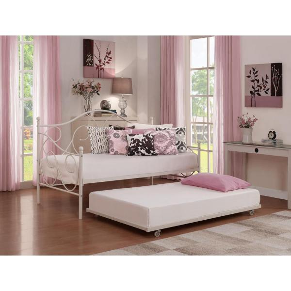Universal Metal Daybed Storage Twin Size Trundle In
