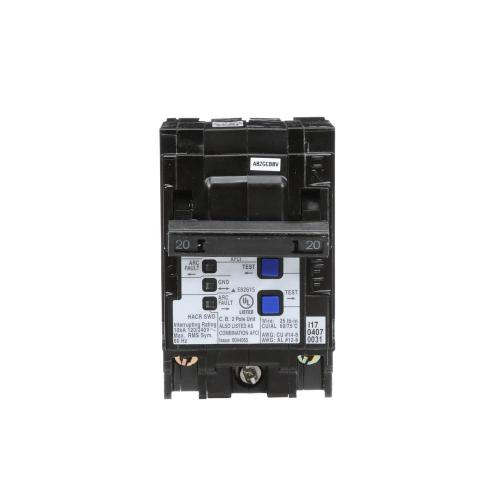 small resolution of arc fault interrupter circuit breakers power distribution the 20 amp double pole wireguide afci circuit breaker