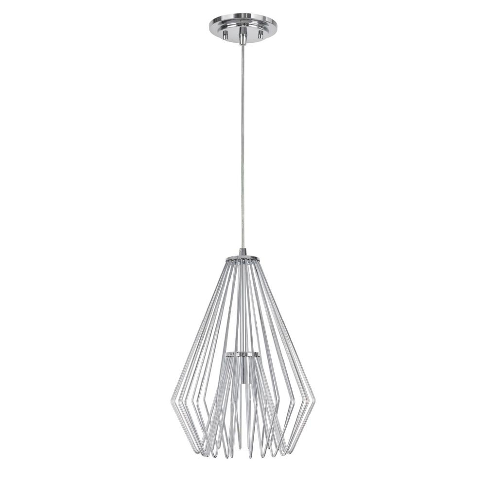 Aspen Creative Corporation 1-Light Chrome Mini Pendant