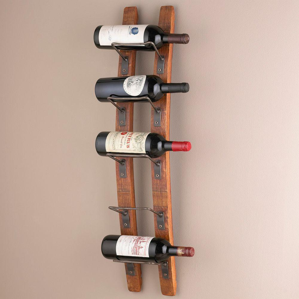 rustic wall mounted wine rack with