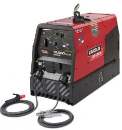 lincoln electric 225 amp eagle 10 000 plus gas engine driven welder w stick leads  [ 1000 x 1000 Pixel ]