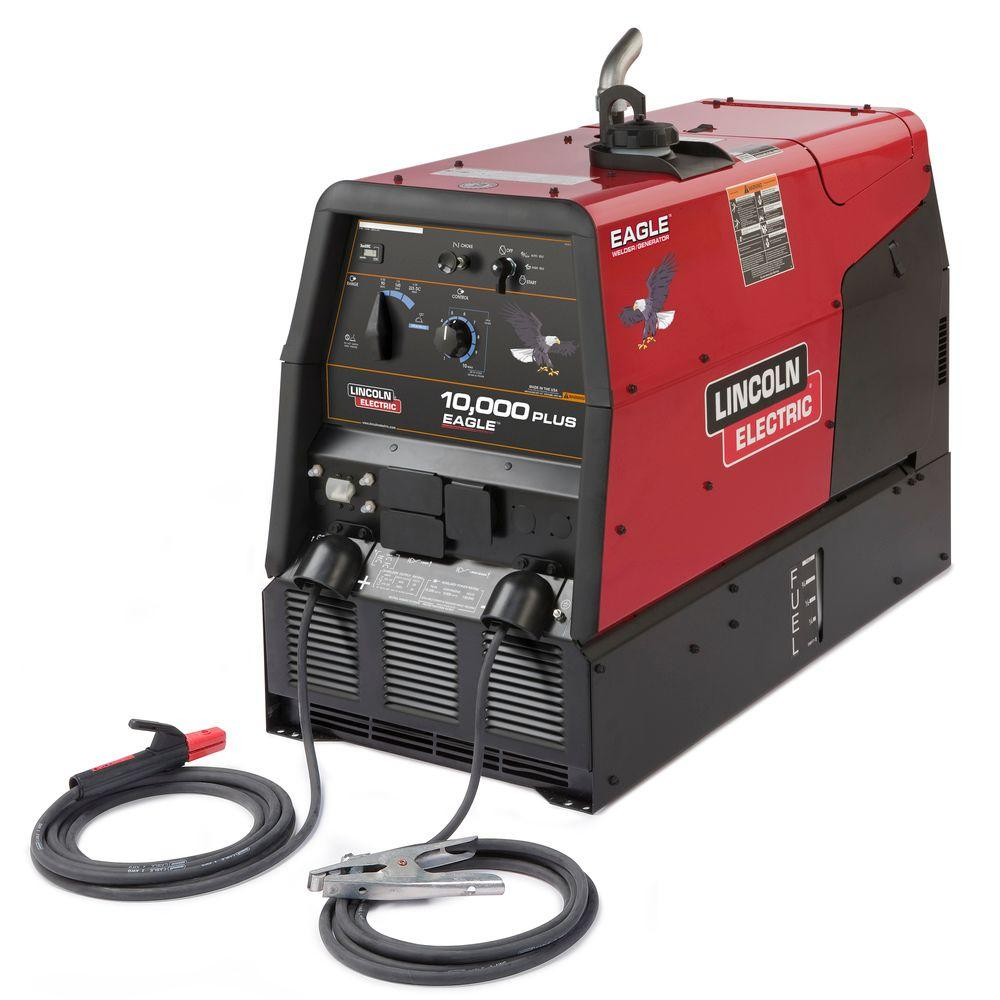 hight resolution of lincoln electric 225 amp eagle 10 000 plus gas engine driven welder w stick leads