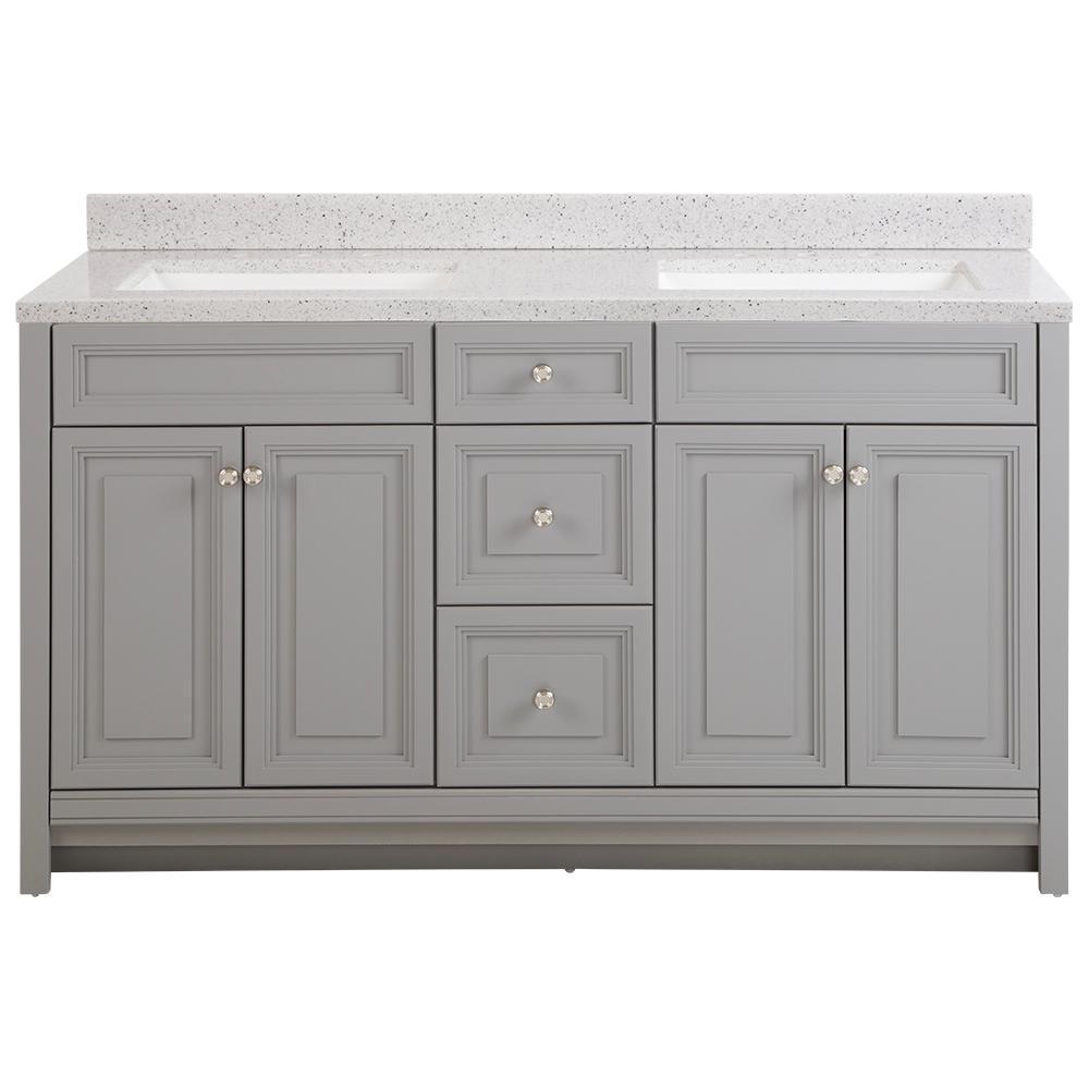 59 61 In Engineered Solid Surface 60 Inch Vanities Bathroom Vanities Bath The Home Depot