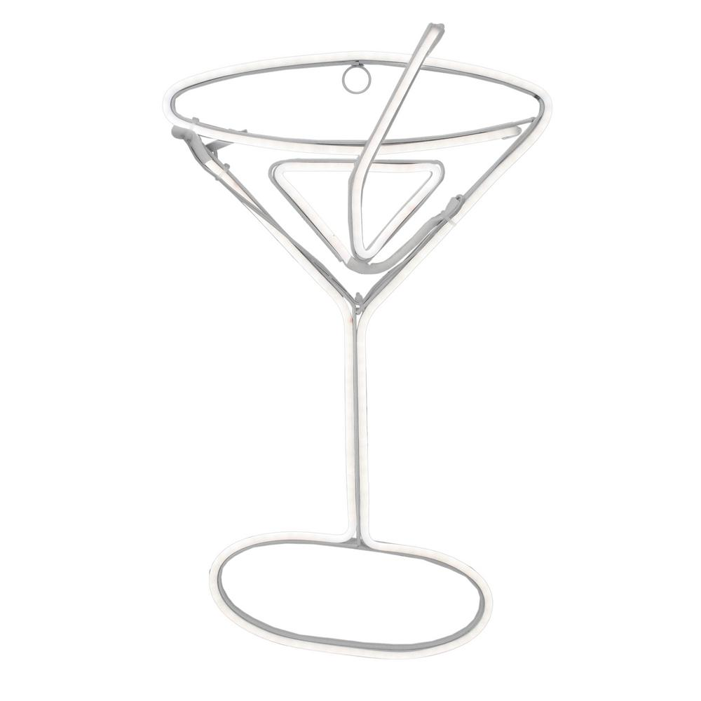 Northlight 17.25 in. Neon Style LED Lighted Martini Glass