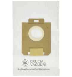 think crucial 4 pack replacement paper bags fits eureka style ox and electrolux style [ 1000 x 1000 Pixel ]