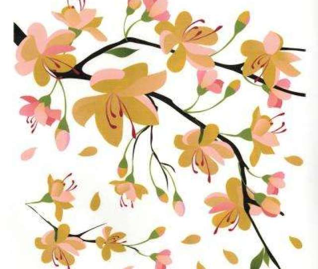 Yellow Branch Wall Decal