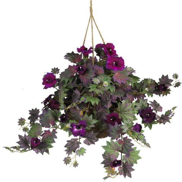 Natural Morning Glory Hanging Basket Silk Plant