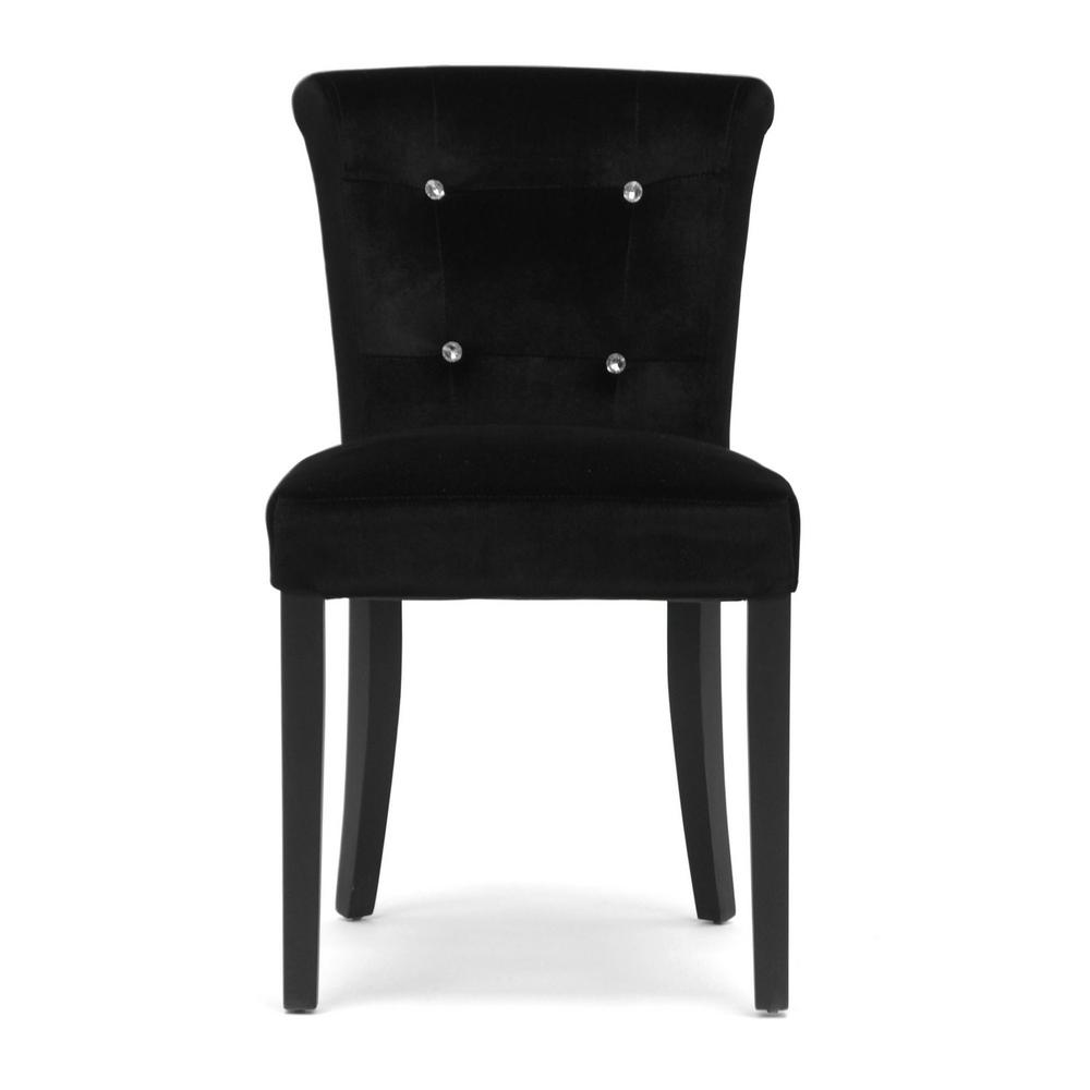Baxton Studio Larouche Black Fabric Upholstered Dining
