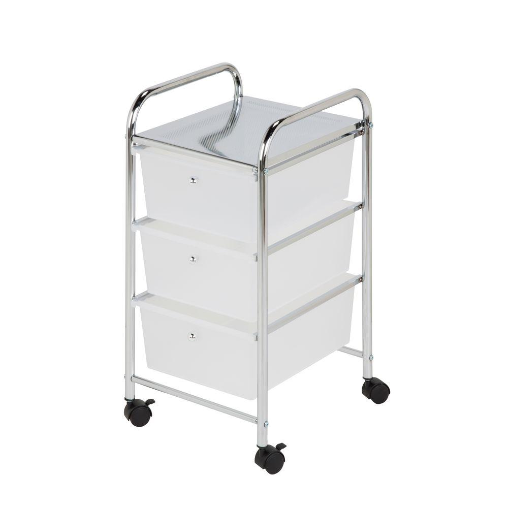 HoneyCanDo 3Drawer Plastic Storage Cart on WheelsCRT