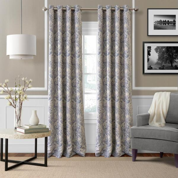 Elrene Blackout Julianne Blue Window Curtain