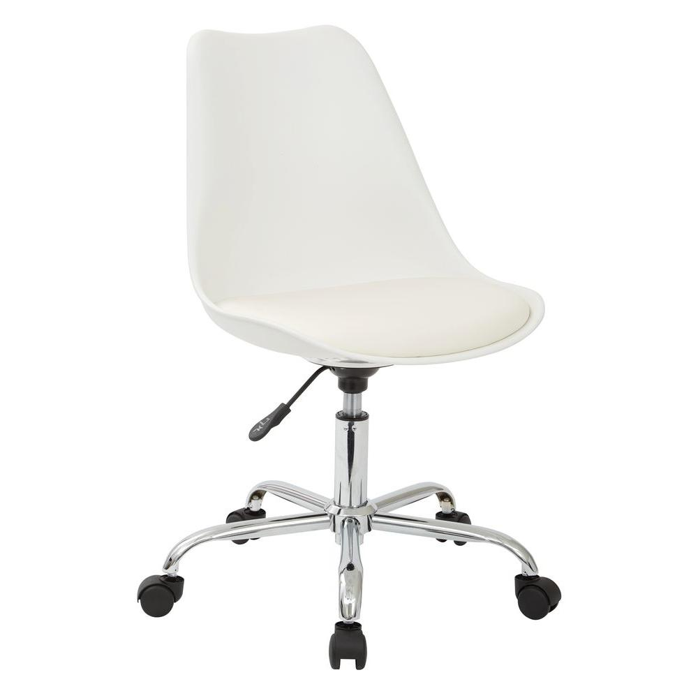 modern white desk chair cheap bubble ave six emerson office ems26 11 the home depot