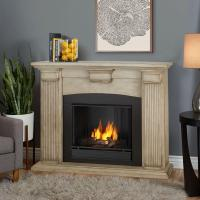 Real Flame Adelaide 51 in. Ventless Gel Fireplace in Dry ...