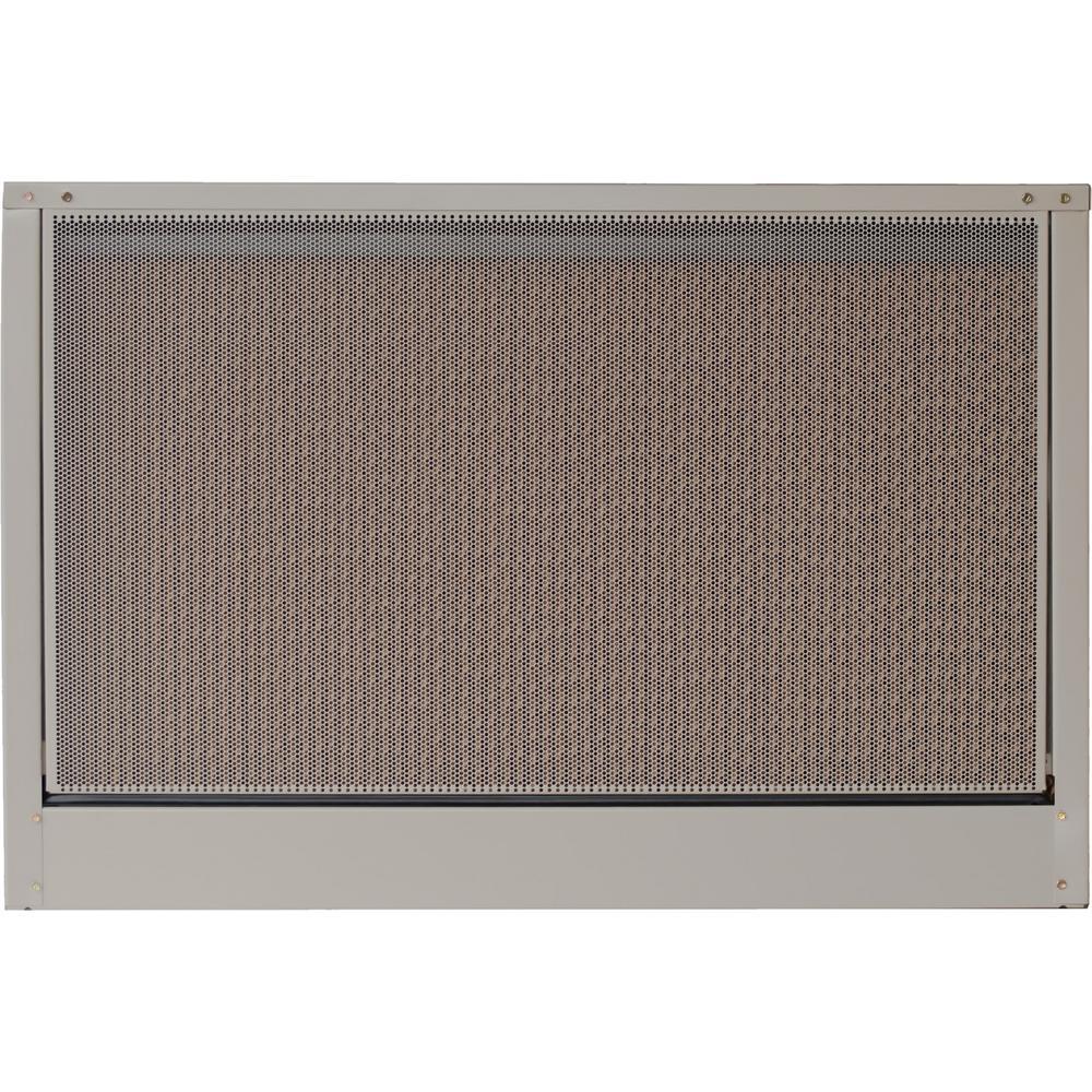 medium resolution of mastercool 5000 cfm 2 speed down draft roof 12 in media evaporative cooler
