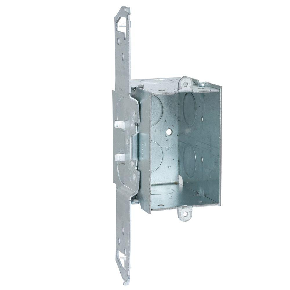 hight resolution of 2 3 4 in deep gangable switch box with 1 2 in ko s and ts bracket 50 pack