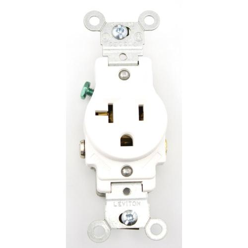 small resolution of leviton 20 amp commercial grade grounding single outlet white
