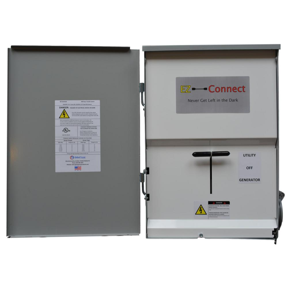 medium resolution of ez connect manual transfer switch with 30 amp inlet for generator connection