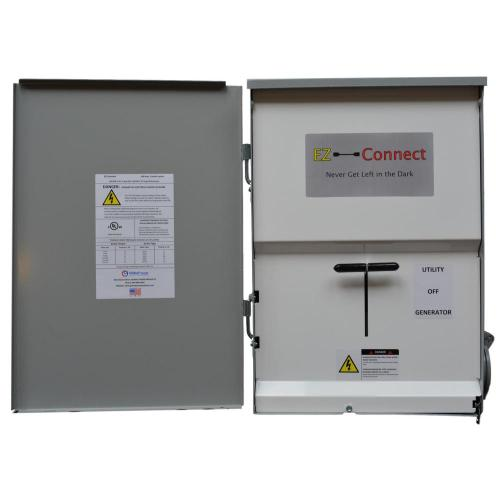 small resolution of ez connect manual transfer switch with 30 amp inlet for generator connection