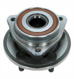front wheel bearing and hub assembly fits 1999 2006 jeep tj wrangler cherokee [ 1000 x 1000 Pixel ]