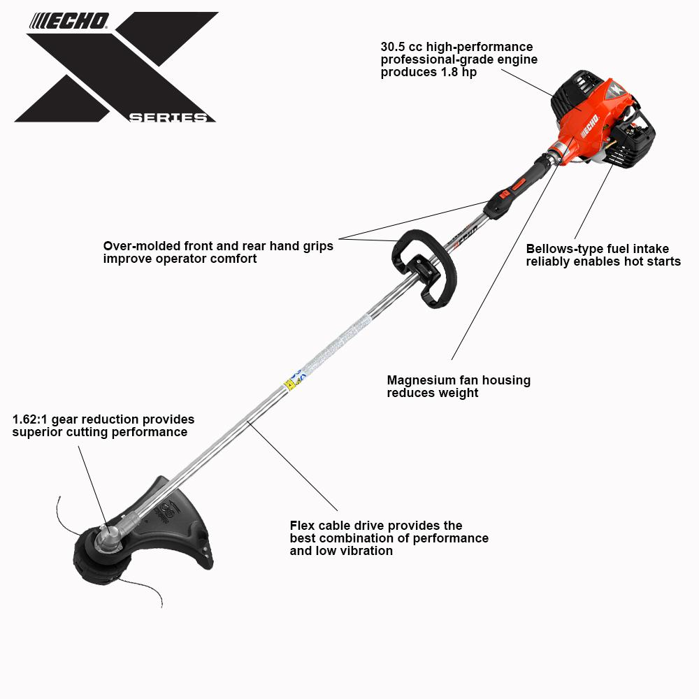 medium resolution of 30 cc gas 2 stroke cycle straight shaft string trimmer