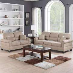Beige Sofa Set Scandinavian Leather Bed Living Room Sets Fabric Furniture The Home Depot Sibillini 2 Piece Espresso Bonded