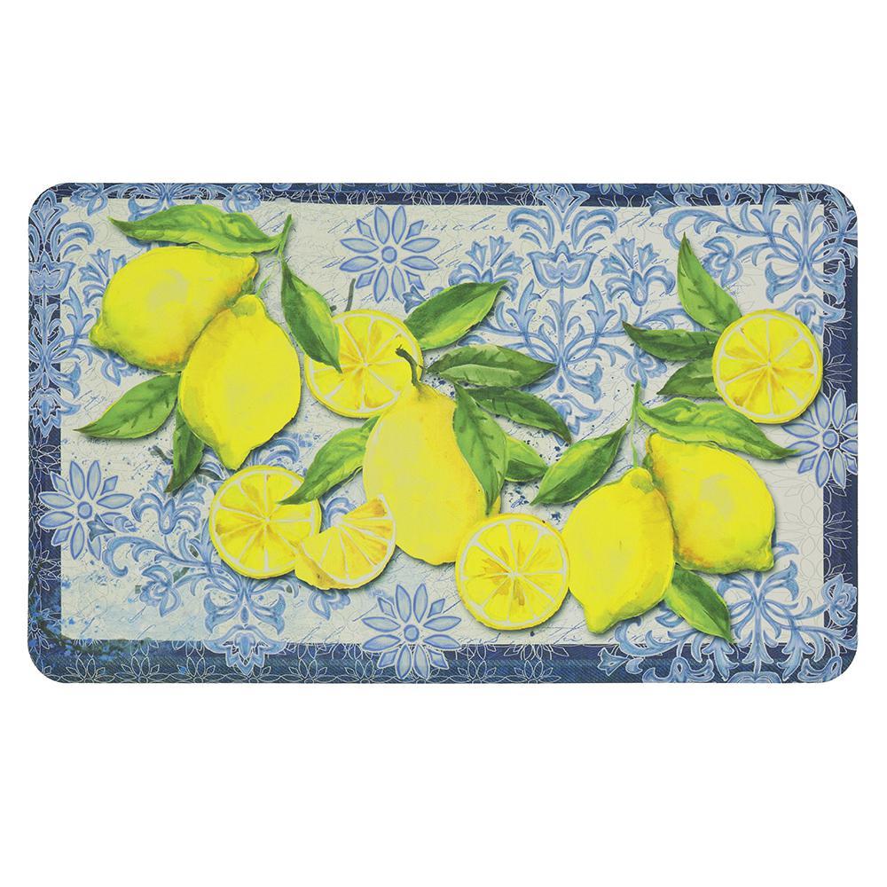 lemon kitchen rug sink with side drain board multi mohawk home mats the depot classy italian lemons 18 in x 30 mat