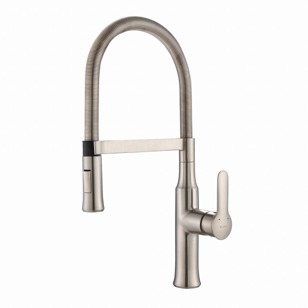 kraus kitchen faucet replacement parts nola flex commercial style single handle pull down sprayer in stainless