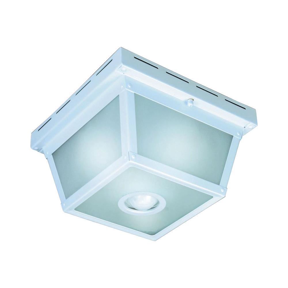 medium resolution of hampton bay 360 square 4 light white motion sensing outdoor flush mount