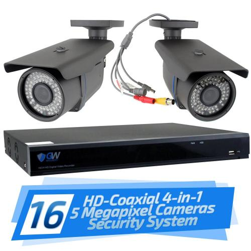 small resolution of 16 channel hd coaxial security system with 16x gw561hd 5 mp cameras 3 3