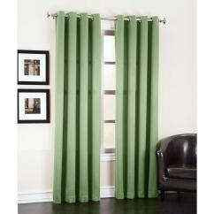 Green Curtains For Living Room Floor Vases Sun Zero Semi Opaque Sage Gregory Darkening Grommet Top Curtain Panel 54 In W X 63 L 43508 The Home Depot