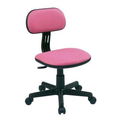 desk chair pink rocking runners office chairs home furniture the depot fabric