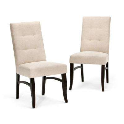 dining chair upholstery comfortable desk southwestern chairs kitchen ezra natural fabric set of 2